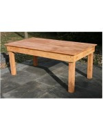 "Farm Table 8'x40"" Light Oak Finish"
