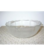 "4"" Clear Frosted Bowl"