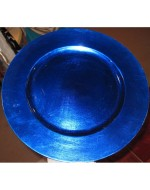 "12"" Cobalt Blue Acrylic Charger"