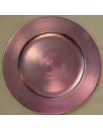 "12"" Pink Acrylic Charger"