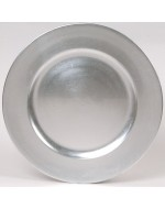 "12"" Silver Acrylic Charger"