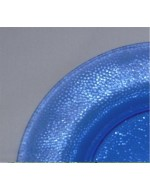 Cobalt Blue Pebbled Glass