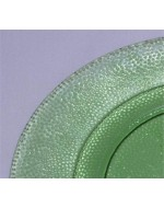 Green Pebbled Glass