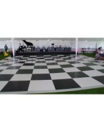 3'x3' Black and White Dance Floor