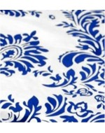 Royal and White Flock Damask
