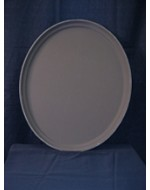 "19"" x 24"" Round Rubberized Waiter Tray"