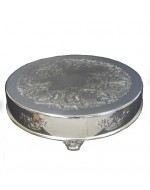"18"" Dia. Silver Cake Stand"